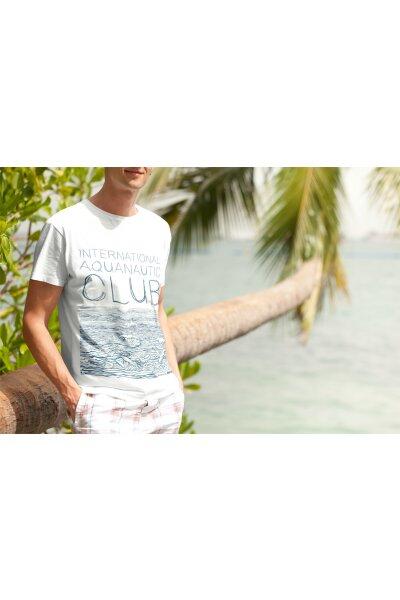 T-Shirt Basic Herren Waves