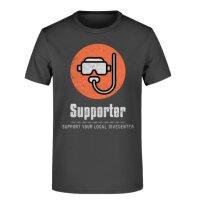 T-Shirt Basic Herren Supporter M