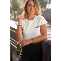 T-Shirt Slim Fit Damen Logo